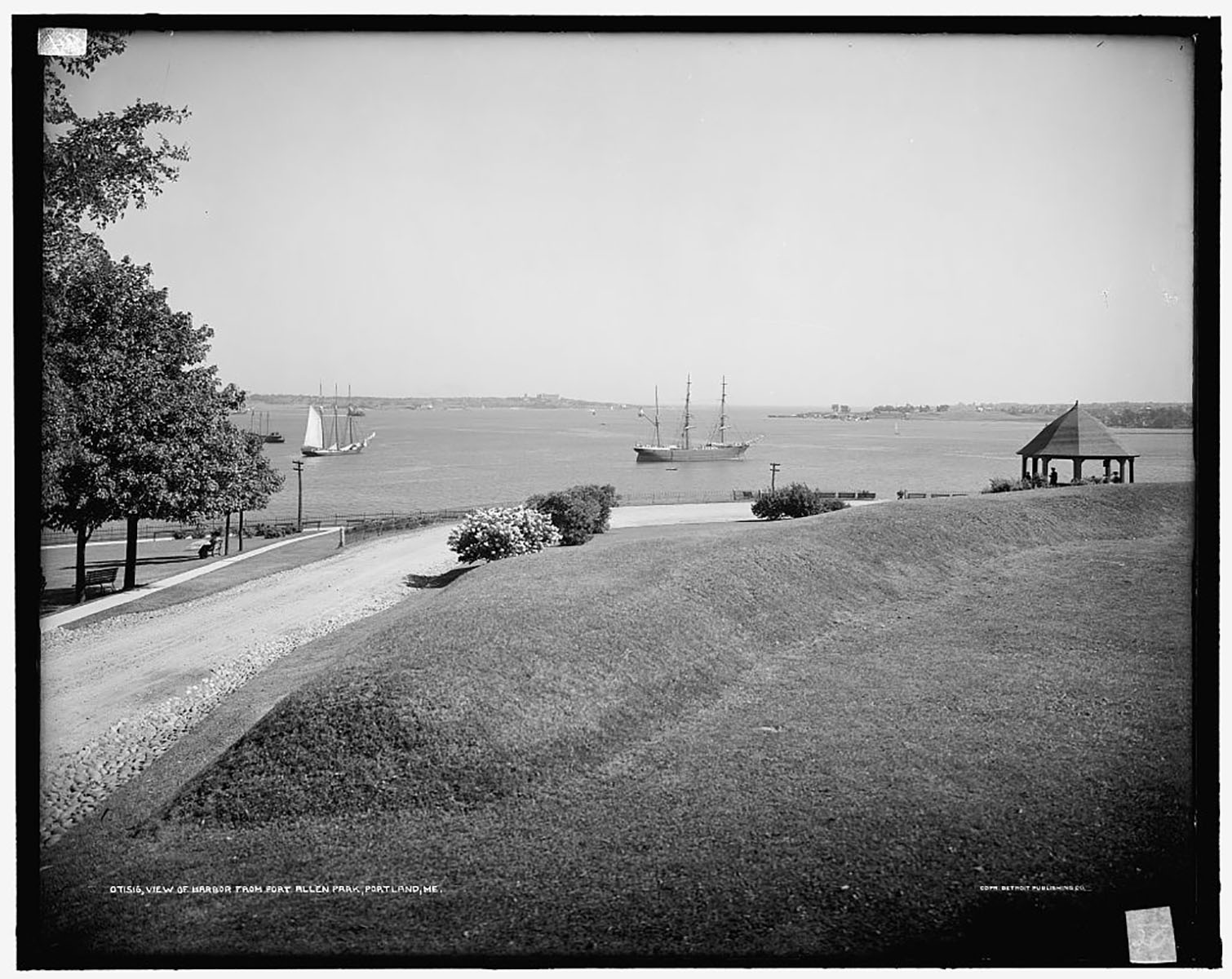 Detroit fap view of portland harbor 1900 1910